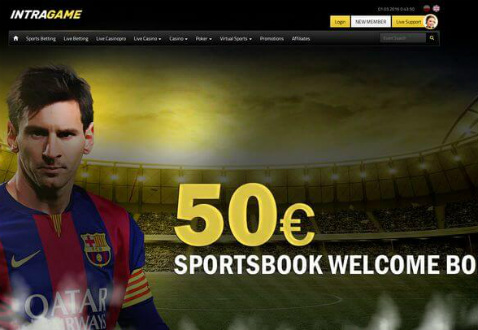 Intragame: 100 % bonus do 50 EUR