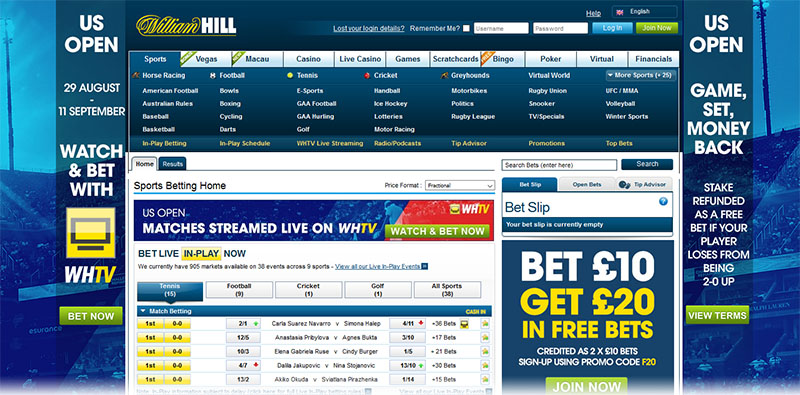WilliamHill homepage